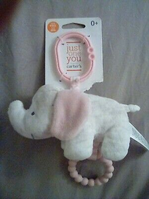 Carter's Baby Elephant Rattle With Teether