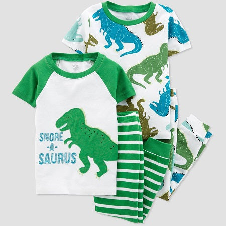 Just one you made by carter's Toddler Boys' 4 piece Dino Pajama Set