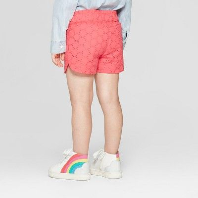 Cat & Jack  Toddler Girls' Eyelet Woven Fashion ShortS