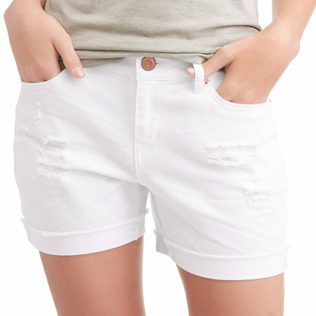 Time and True Women's Mid-Rise Shorts