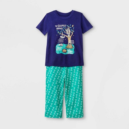 Cat & Jack Toddler Boys' Sleepy Animals Pajama Set