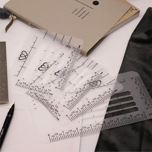 4 PCS Envelope Addressing Guide Stencil