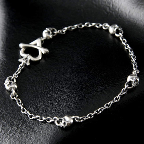 RAT RACE - Skull & Chain Anklet - RAT RACE OFFICIAL STORE