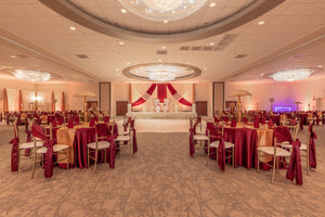 Decorated Ballroom in red & gold