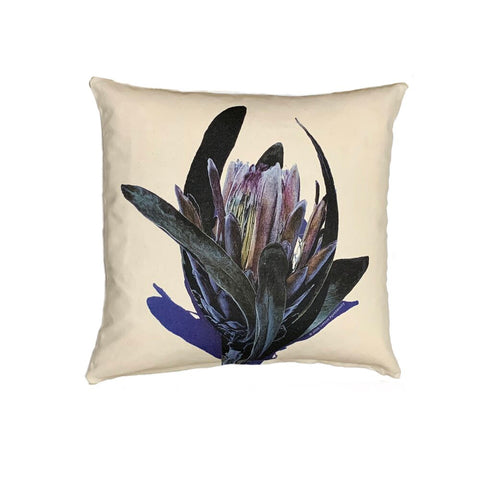 Blue Green Silver Protea - Cushion Cover