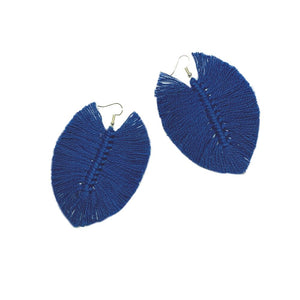 Blue Macrame Earrings