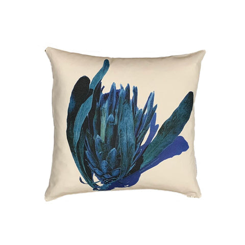 Blue Green Protea - Cushion Cover
