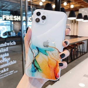 LOVECOM Vintage Colorful Phone Case For iPhone 11 Pro Max XR XS Max 7 8 Plus X Full Body Soft IMD Clear Back Cover Coque Gifts