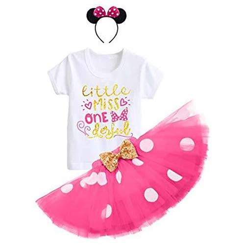 Baby Girls 1st First Birthday Cake Smash Frilly Tutu Knickers Outfit Hat Set One