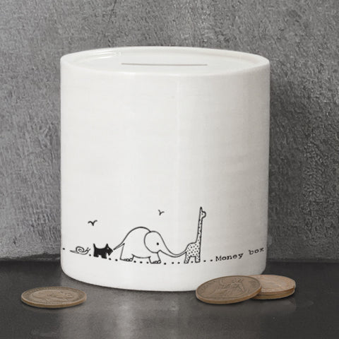 Porcelain Money Box - Nursery Animals