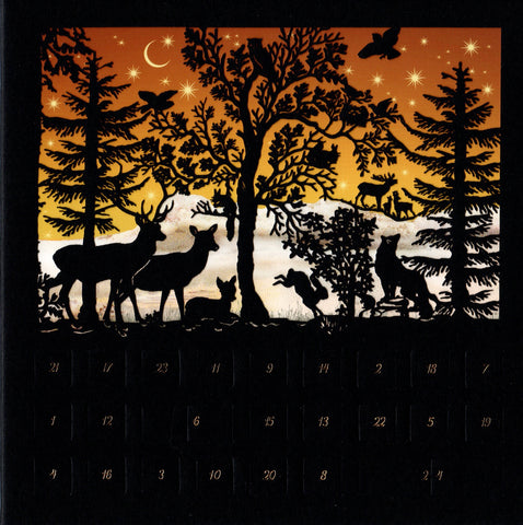 Christmas Forest Animals Mini Advent Card