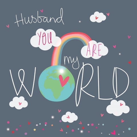 Husband You Are My World Card