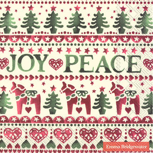 Joy and Peace Lunch Napkins