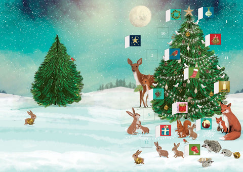 Festive Forest Advent Calendar Card