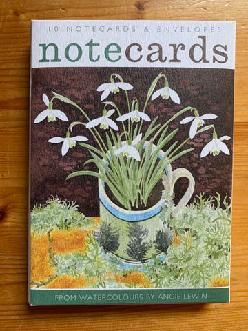 Snow Drops and Lichen Notecards