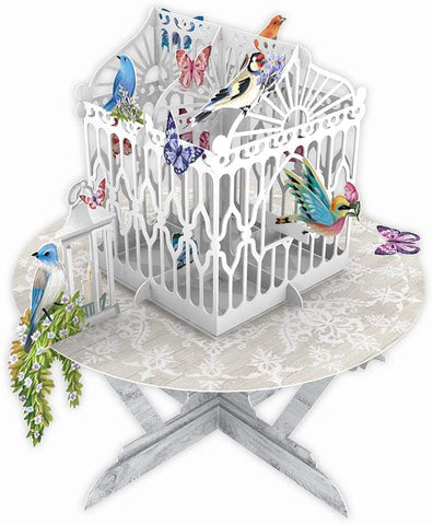 3D Birds and Butterflies Pop Up Greeting Card