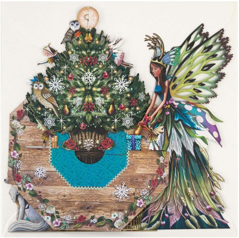Fairy Table 3D Pop-Up Christmas Card