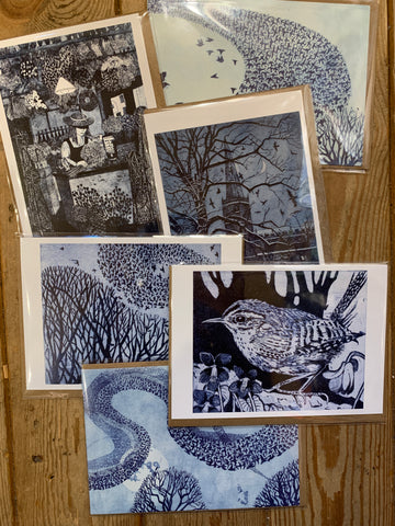 Blue Etchings Card Bundle