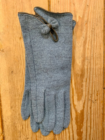 Teal Wool Gloves