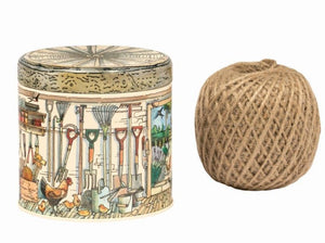 Potting Shed String tin - with string
