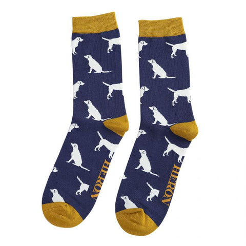 Mens Labradors Socks Navy