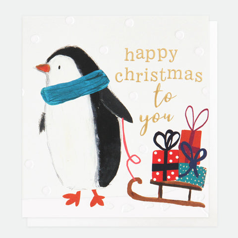 Happy Christmas Penguin Card Pack