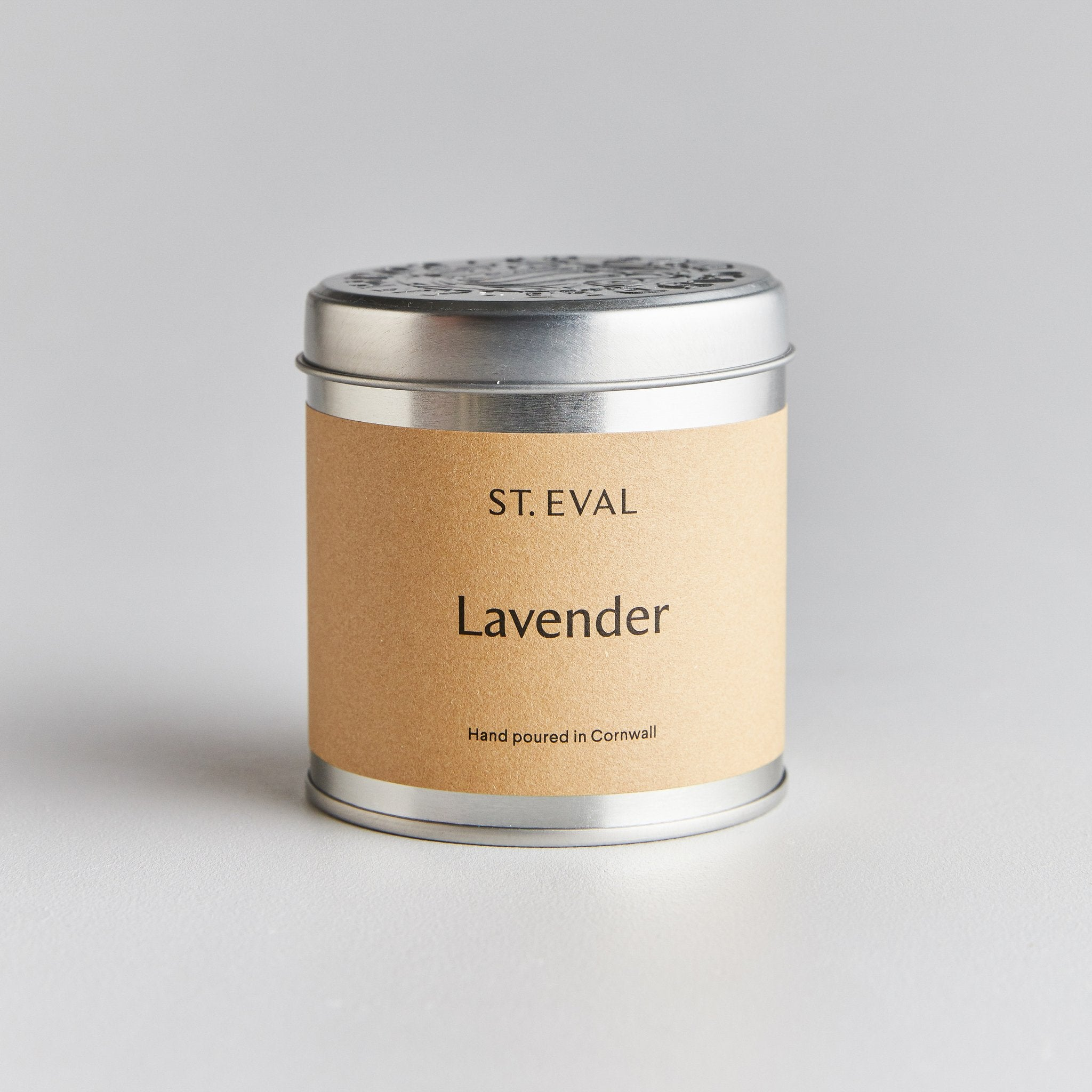 Lavender Scented Candle Tin from St Eval
