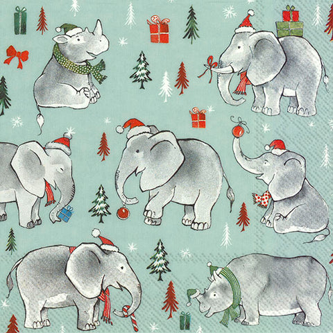 Wild Christmas Lunch Napkins