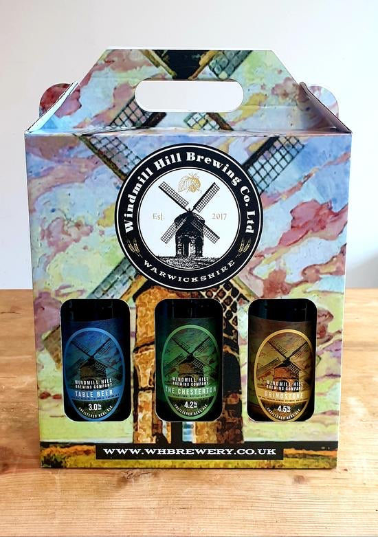 Gift Pack Containing Three Award Winning Beers by Windmill Hill Brewing Co.