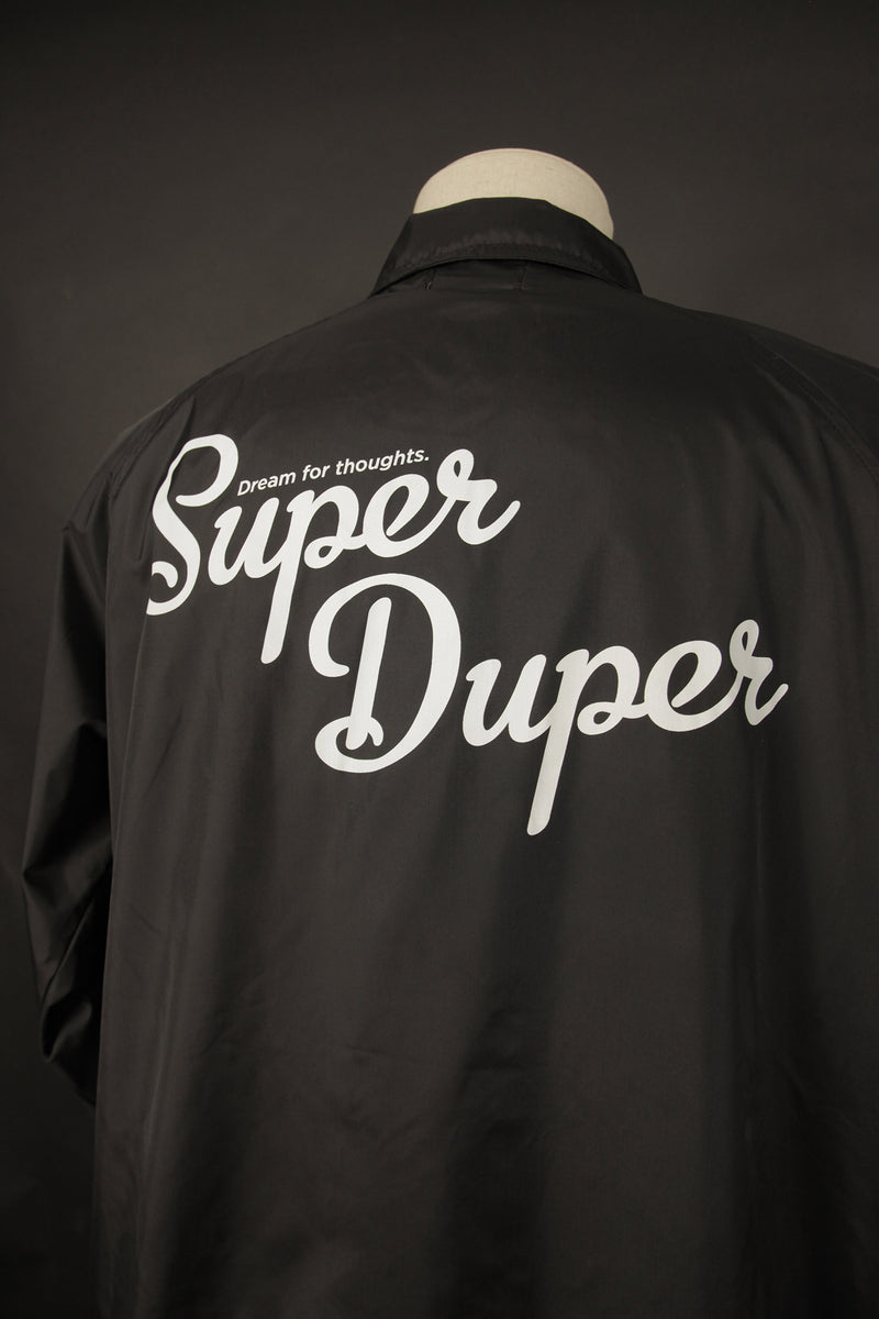 SUPER DUPER COACH JACKET BLACK
