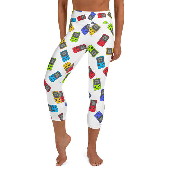 Gameboy Color Doodle Yoga Capri Leggings