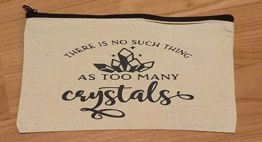 Too Many Crystals Canvas Pouch