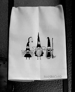 Gnome Witch Tea Towel