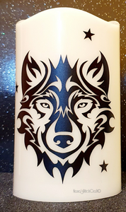 Wolf & Stars Candle