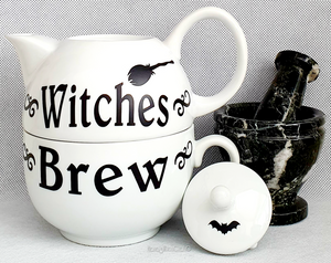 Witches Brew Teapot & Cup Set (for one)