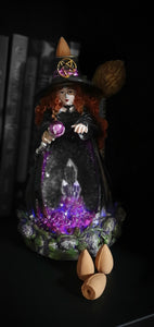 LED Witch Backflow Incense Holder