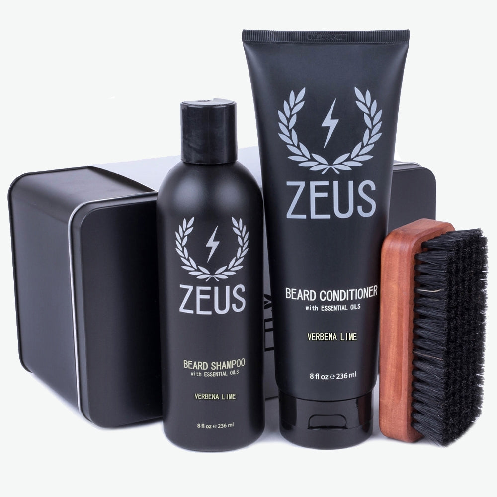 Load image into Gallery viewer, Zeus Beard Care Set, Verbena Lime