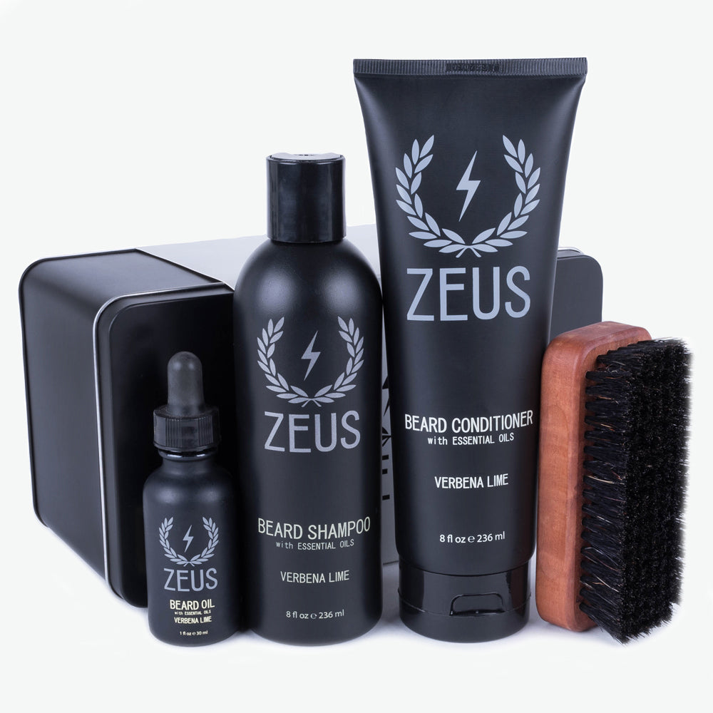 Load image into Gallery viewer, Zeus Deluxe Beard Care Kit