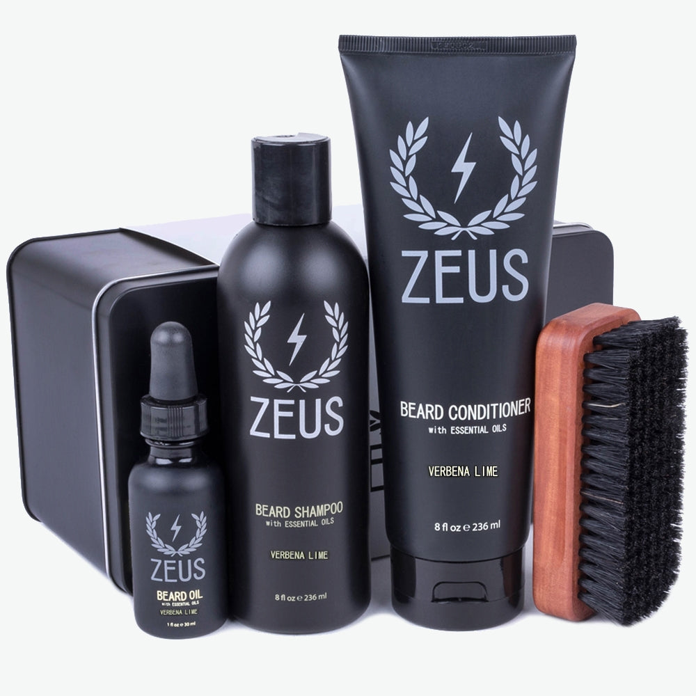 Load image into Gallery viewer, Zeus Deluxe Beard Care Kit, Verbena Lime
