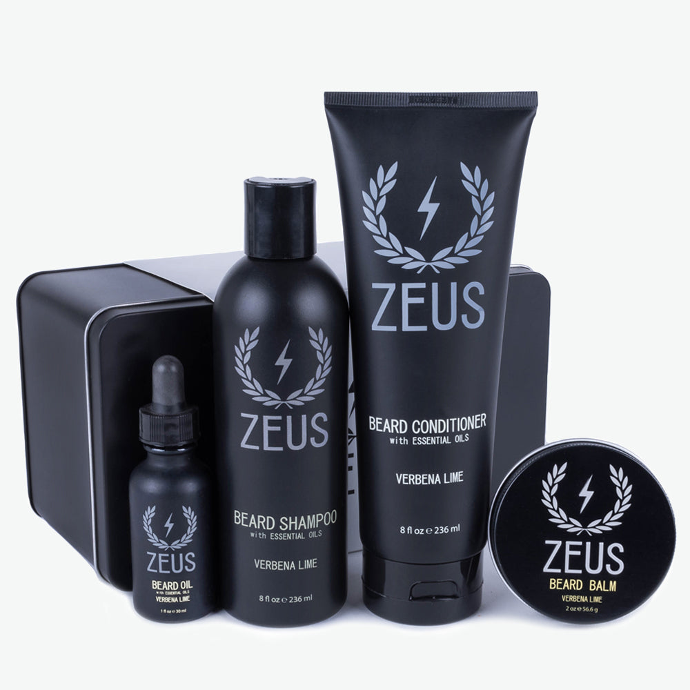 Zeus Everyday Beard Grooming Kit, Regular Beard Oil