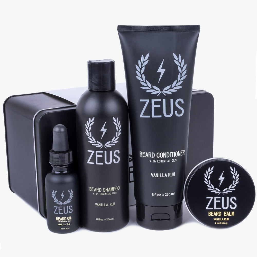 Zeus Everyday Beard Grooming Kit, Vanilla Rum