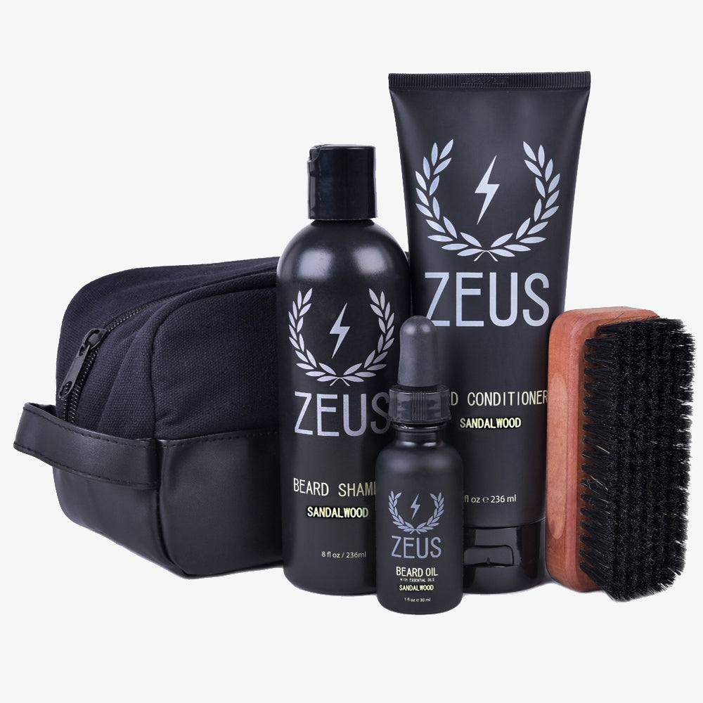 Zeus Deluxe Beard Care Dopp Kit, Sandalwood