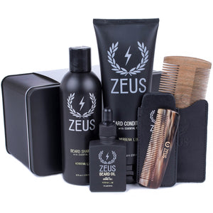 Load image into Gallery viewer, Zeus Executive Beard Care Kit - Verbena Lime