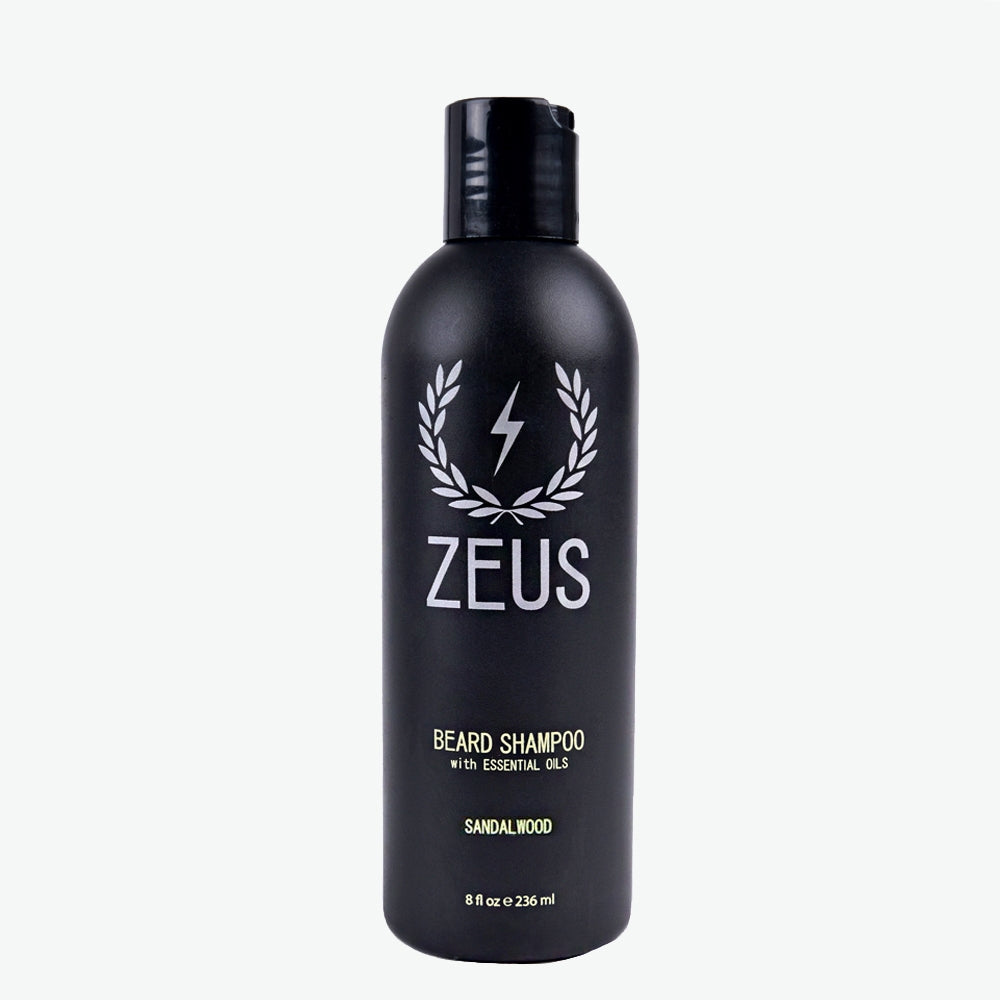 Beard Shampoo Wash 8 fl oz, Zeus Sandalwood