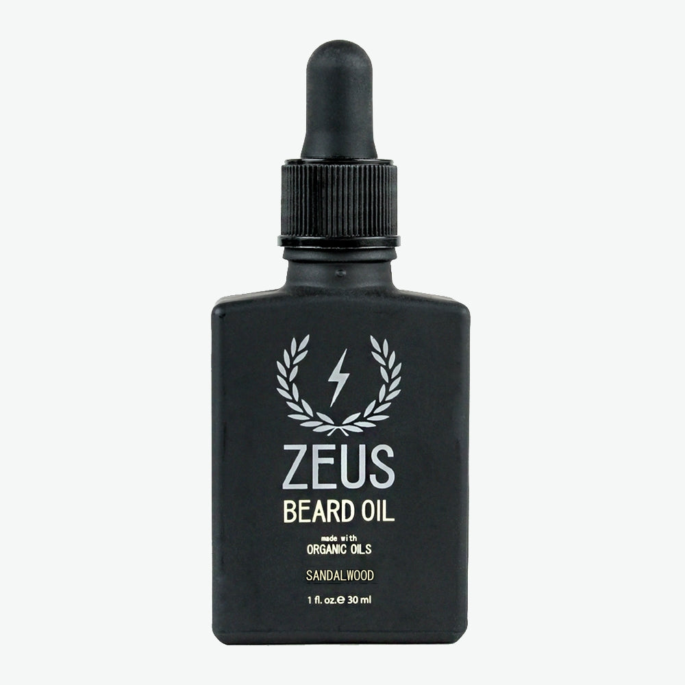Beard Oil with Organic Oils, Zeus Natural Sandalwood