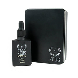 Beard Oil with Organic Oils, Zeus Natural Vanilla Rum