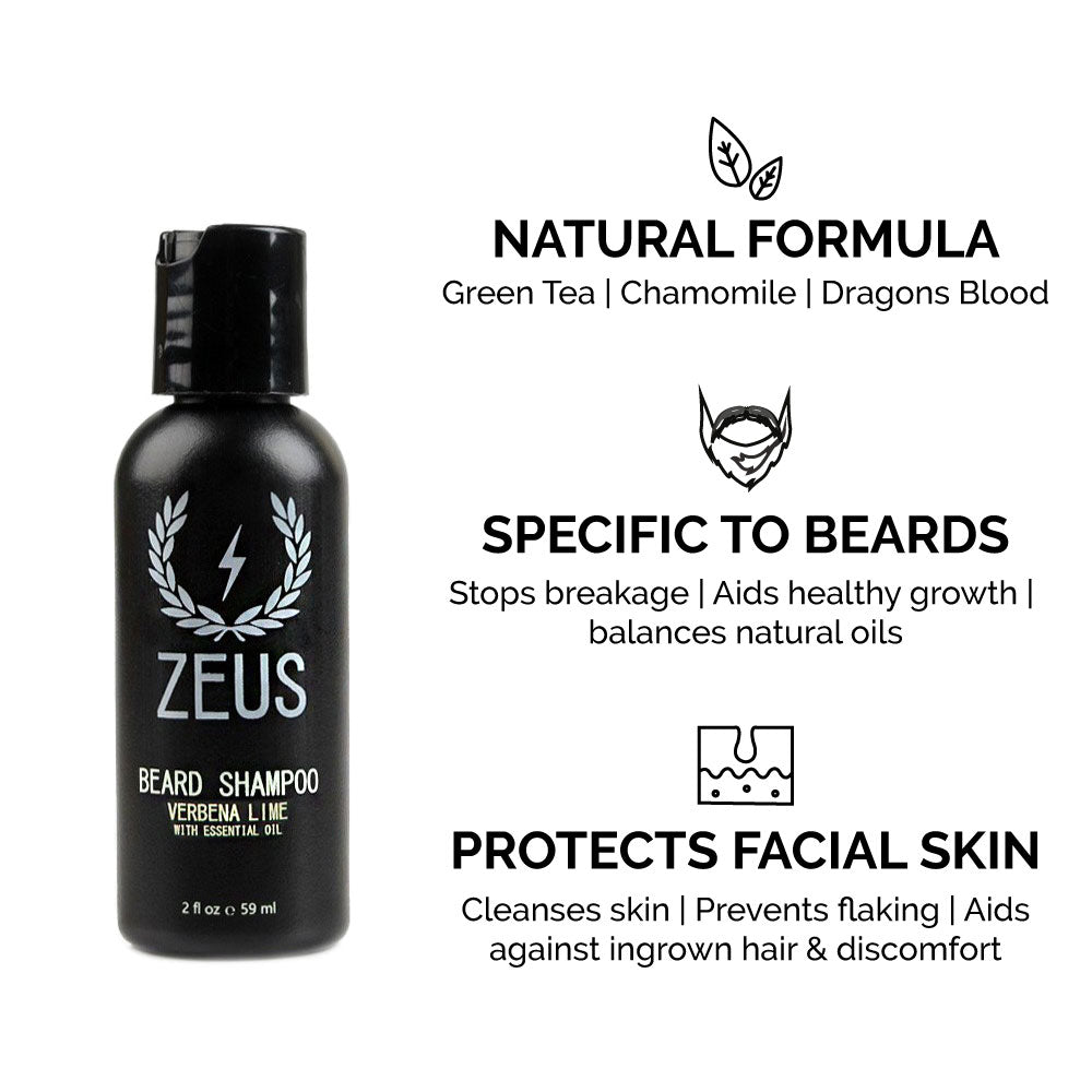 Load image into Gallery viewer, Zeus Refined Essential Beard Care Kit