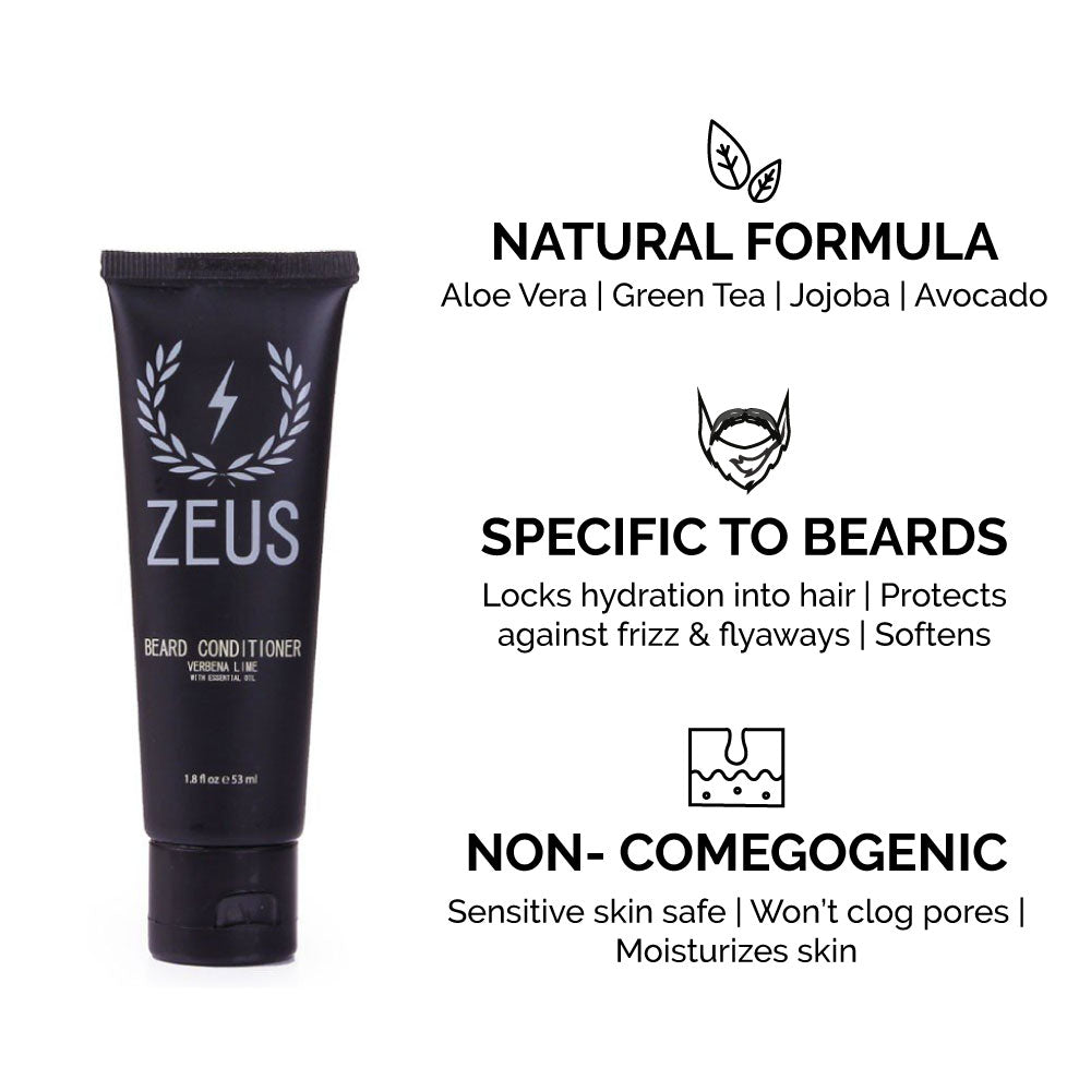 Load image into Gallery viewer, Zeus Regular Essential Beard Care Kit