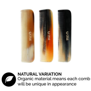 Zeus Natural Horn Fine Tooth Hair Comb - Z41