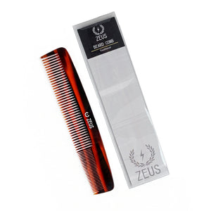 "Zeus 7.5"" Handmade Saw-Cut 2-in-1 Beard & Mustache Comb - C11"